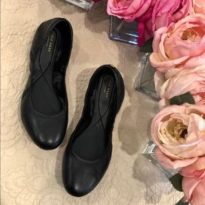 Cole Haan Leather Zero Grand Ballet Flat in Black